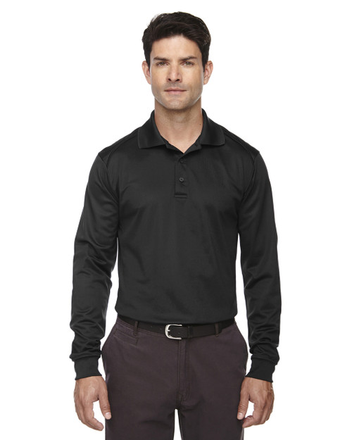 Black - 85111T Ash City - Extreme Eperformance Men's Tall Long-Sleeve Polo Shirt