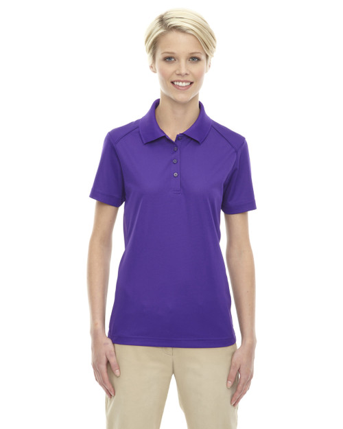 Campus Prple - 75108 Ash City - Extreme Eperformance Ladies' Shield Short-Sleeve Polo Shirt | Blankclothing.ca