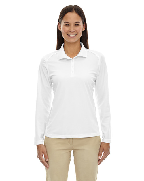 White - 75111 Ash City - Extreme Eperformance Ladies' Long-Sleeve Polo Shirt