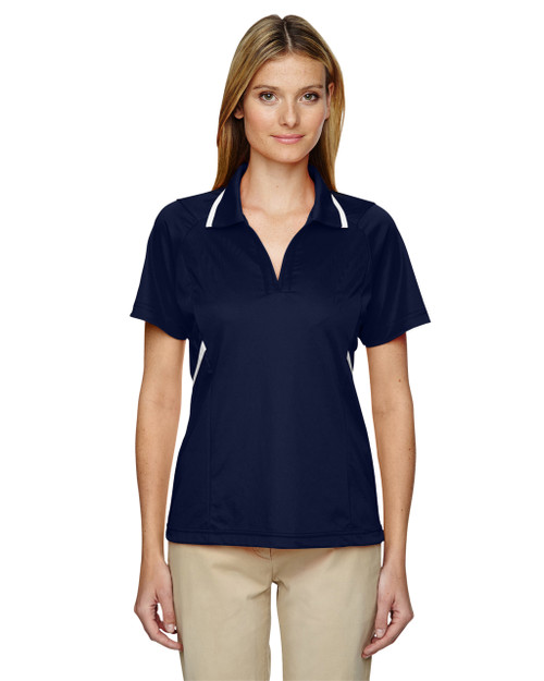 Classic Navy - 75118 Ash City - Extreme Eperformance Propel Interlock Polo Shirt with Contrast Tape   BlankClothing.ca