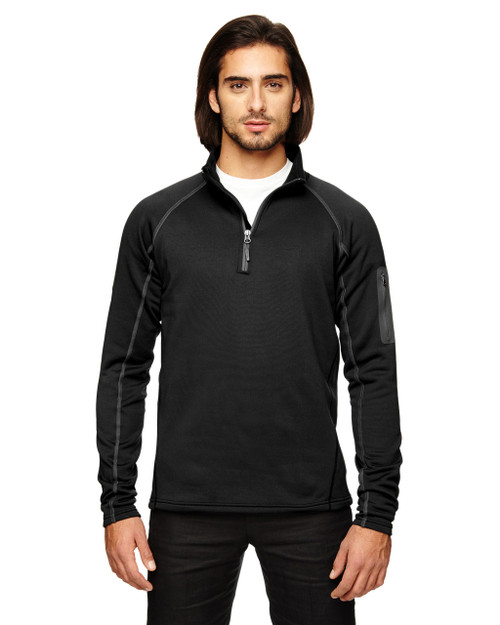 Black - 80890 Marmot Men's Stretch Fleece Half-Zip Sweatshirt | BlankClothing.ca