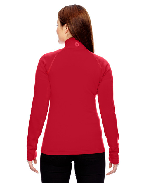 Team Red - Back, 89610 Marmot Ladies' Stretch Fleece Half-Zip Sweatshirt | BlankClothing.ca