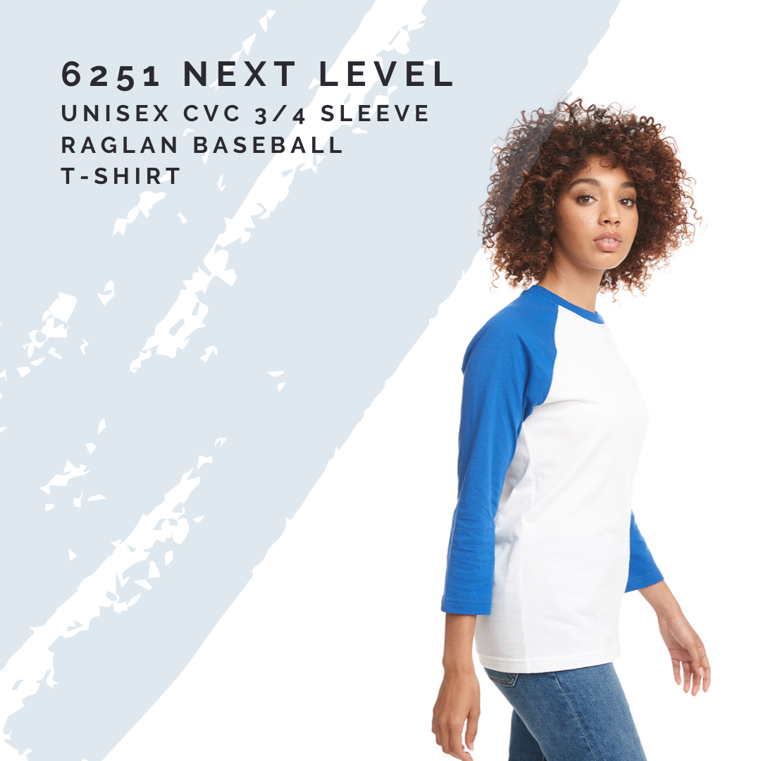 New on the Site: 6251 Next Level Raglan Tee