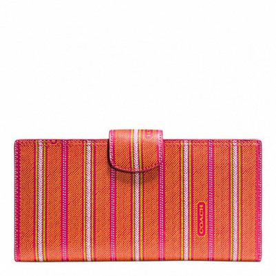 Weekend Tickings Stripe Travel Wallet