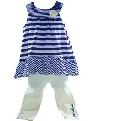 Baby Girl 2-pc Stripe Tunic & Leggings Set
