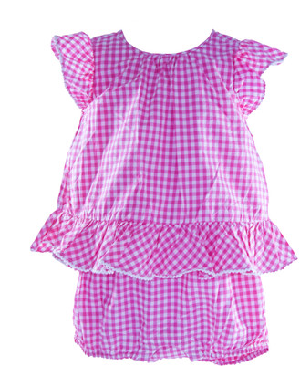 Baby Girl Gingham Romper