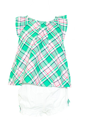Baby Girl 2-pc Plaid Set
