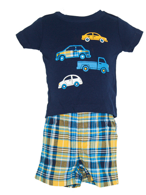Baby boy 3-piece Cars & Short Set
