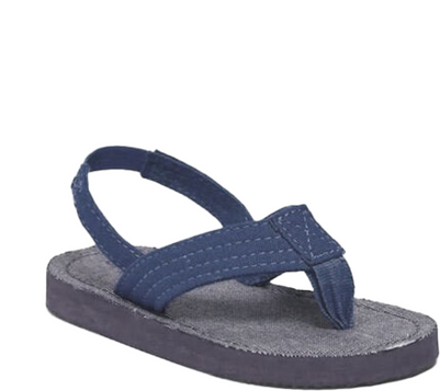 Toddler Boy Chambray Flip-Flops