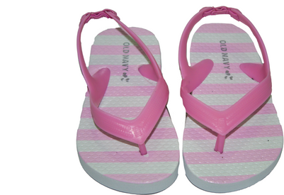 Toddler Girl Pink Stripes Flip Flop