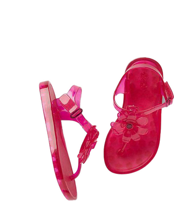 Toddler Girl Pink Jelly Flower  Sandal