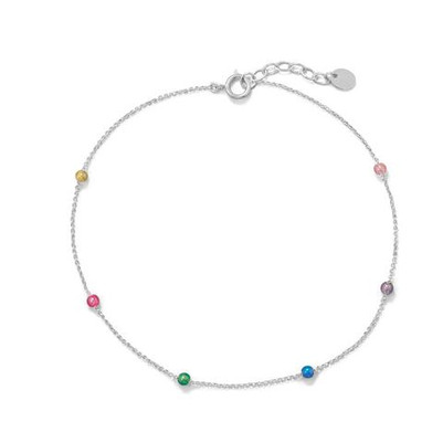 Muli Color Beaded Anklet