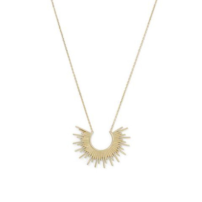 """Shine On!"" 14 Karat Gold Plated Sunburst Necklace"