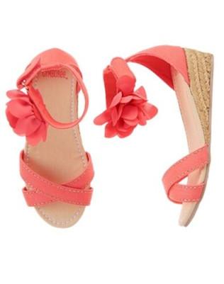 Island Girl Flower Espadrille Wedge Sandals