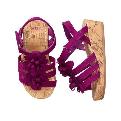 Big Girl Flower Wedge sandals