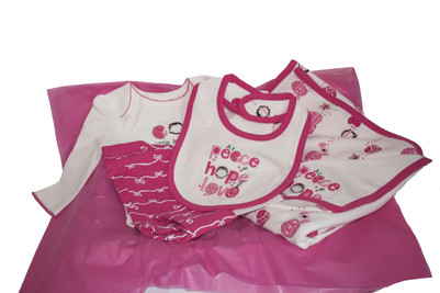 Peace Hope Love Welcome Home Baby Girl Set