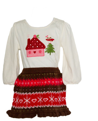 Baby Girl Cozy Owl Tee & Sweater Skirt Set