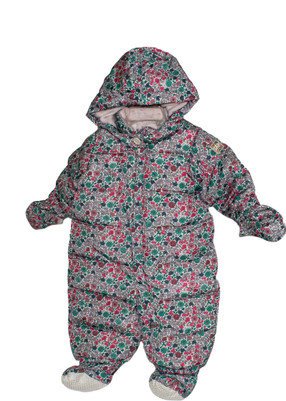 Baby Girl Snowsuit Floral Print