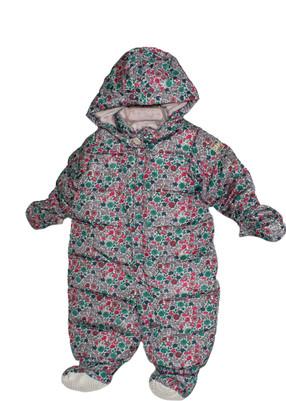 Baby Girl Snowsuit Floral Print