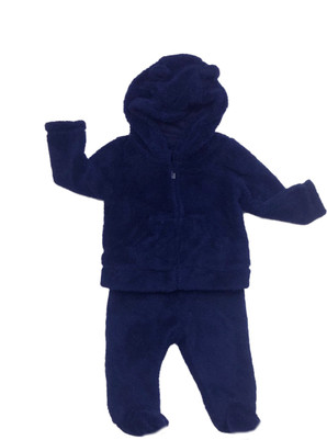 Baby Boy Baby Sherpa Pants & Hoodie  2-Piece Set