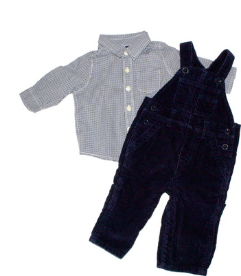 Baby Boy Baby Corduroy Overall set  2-Piece Set