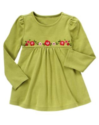 Big Girl Sequin Flower Swing Top