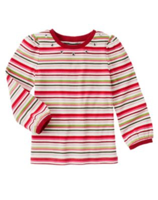 Big Girl Gem Stripe Tee