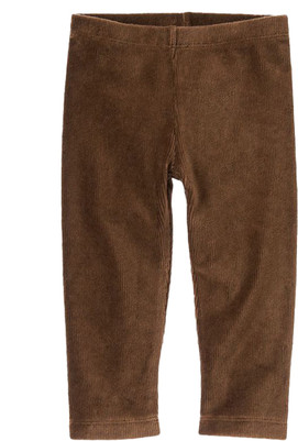Baby Girl Brown Velour Legging