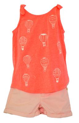 Big Girl  Hot Air Balloons Top & Short Set