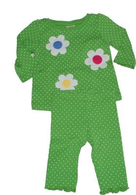 Copy of Baby Flower Dot Long  Sleeve Tee & Leggings Set