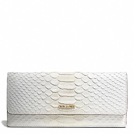 Madison Pinnacle Python-Embossed Sof Wallet