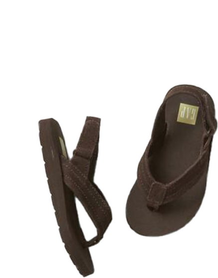 Baby Boy Sueded Ankle Strap Flip Flops