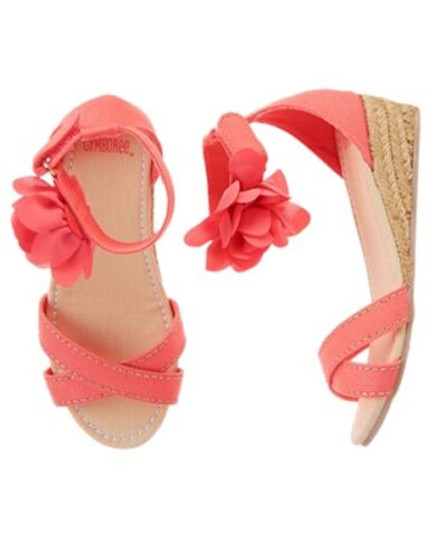 Island Girl Flower Espadrille Wedge Sandals