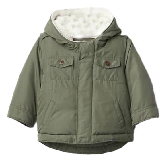 Baby Boy  Sherpa Puffer Parka  Jacket
