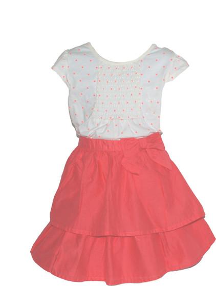 Big Girl  Ruffle Skirt  and Polka Dot Skirt Set