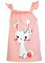 Big Girl  Bow Bunny Top & Ruffle Skirt Set