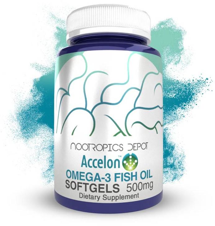 Accelon Omega 3 Fish Oil Softgels | 500mg