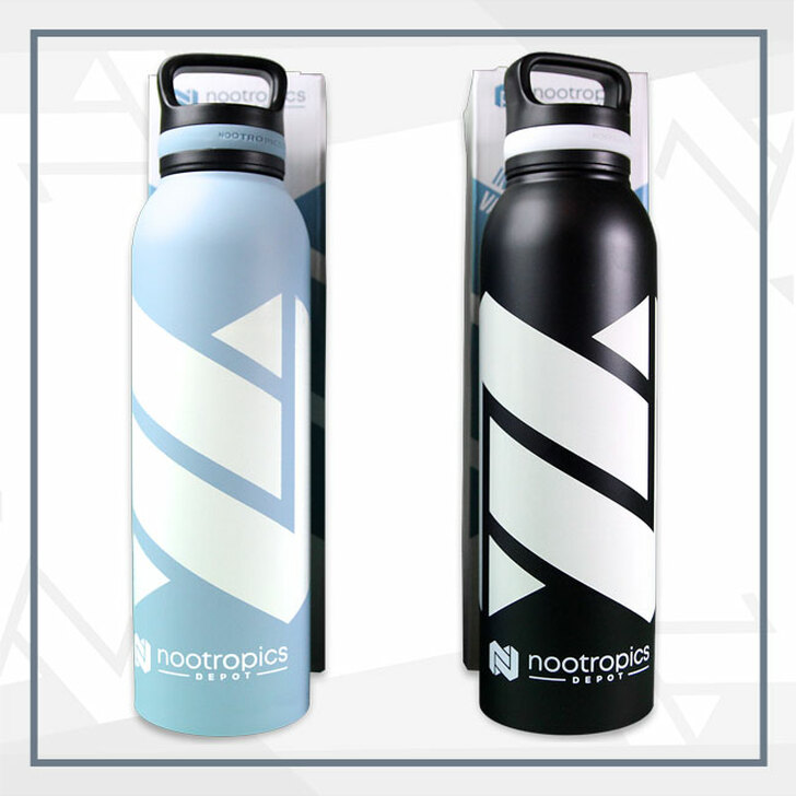 Nootropics Depot Water Bottle   Food Grade Stainless Steel   Vacuum Insulated