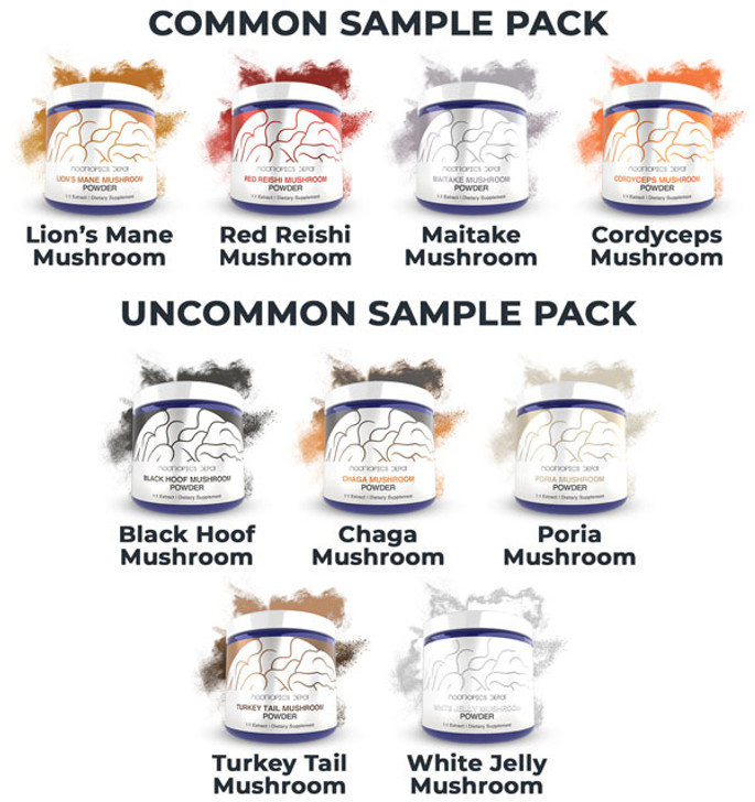 Whole Fruiting Body Mushroom Extract Sample Pack