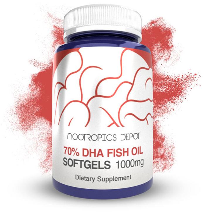 Omega 3 Fish Oil Capsules   70% DHA   1000mg Softgels