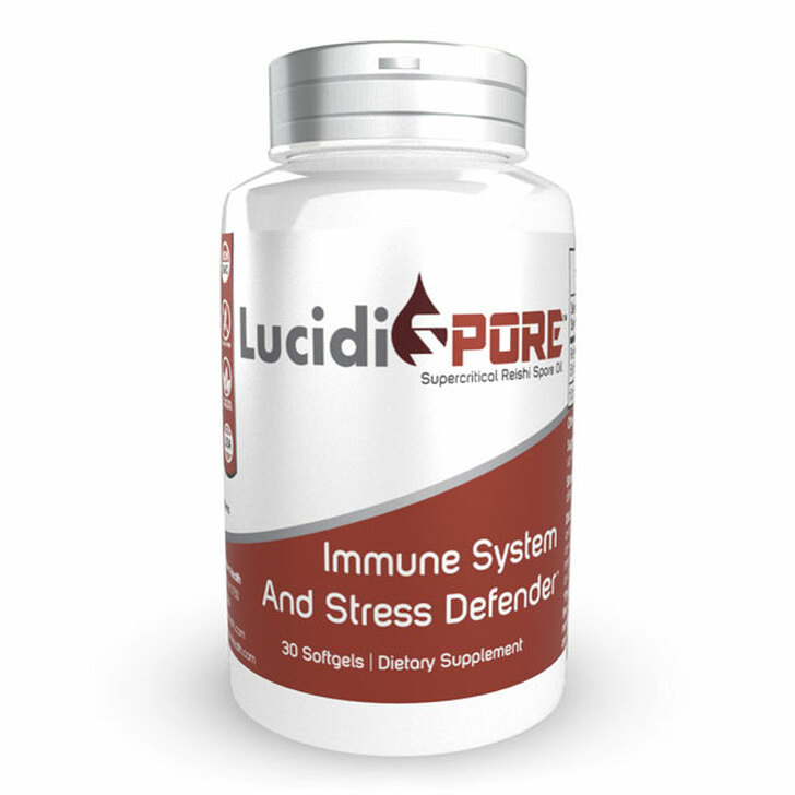 LucidiSPORE™ Softgels   Super Critical CO2 Reishi Spore Oil