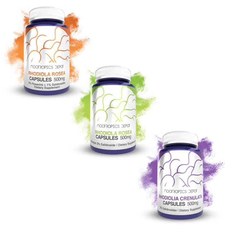 Rhodiola Rosea + Crenulata Extract Capsules Sample Pack