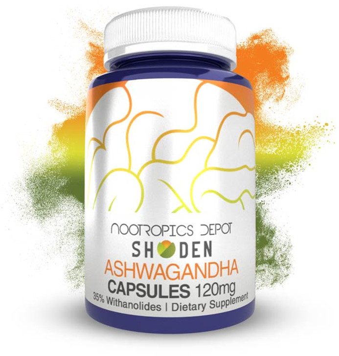 Shoden® Ashwagandha Extract Capsules | 120mg | 35% Withanolides