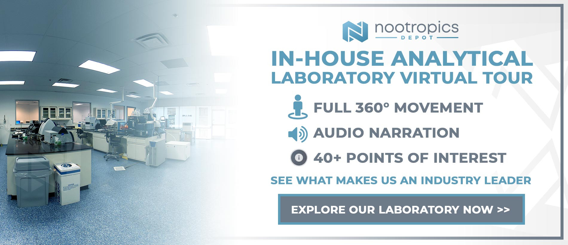 Nootropics Depot In-House Analytical Laboratory Virtual Tour