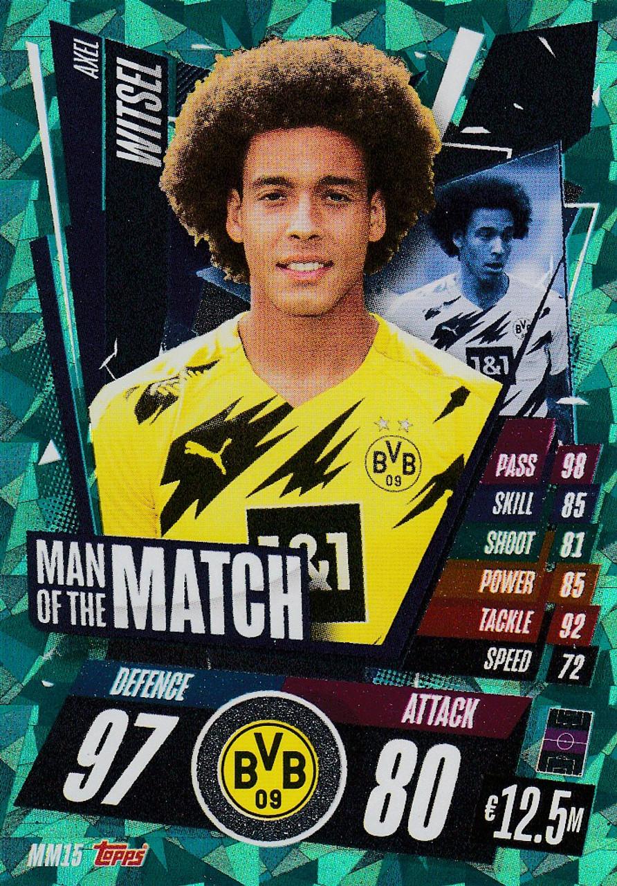Dortmund, Man of the match witsel Topps match coronó Champions League 20 21