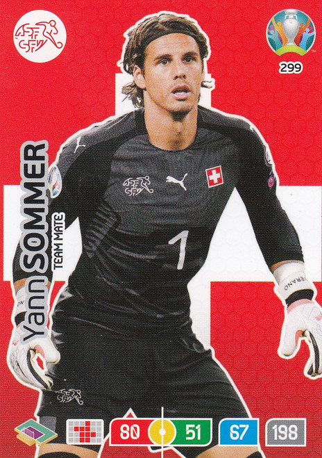 #299 Yann Sommer (Switzerland) Adrenalyn XL Euro 2020