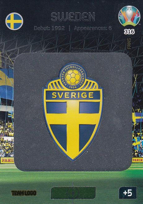 #316 Sweden Logo Adrenalyn XL Euro 2020
