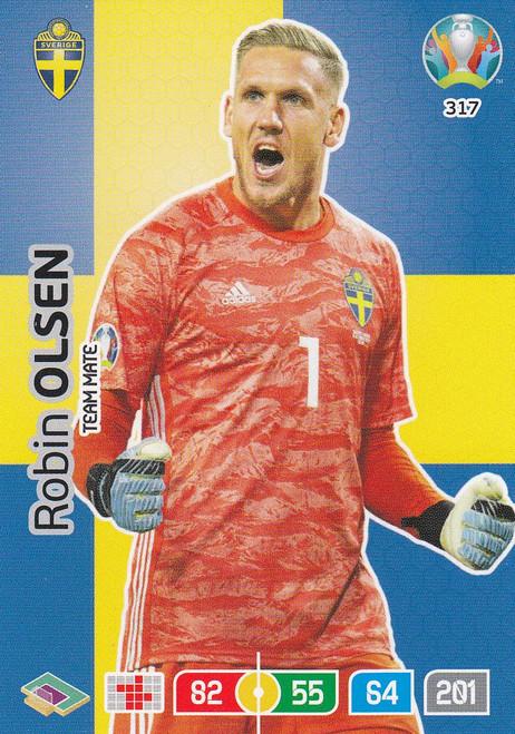 #317 Robin Olsen (Sweden) Adrenalyn XL Euro 2020