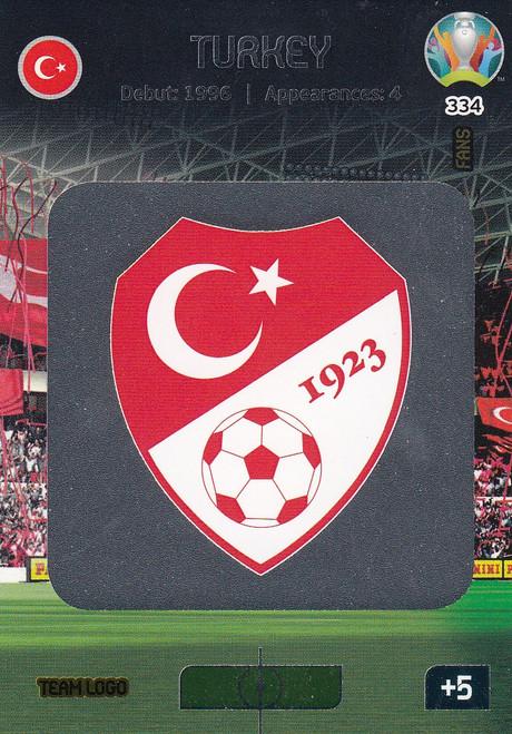 #334 Turkey Logo Adrenalyn XL Euro 2020