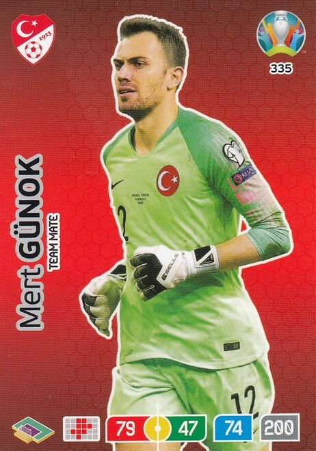 #335 Mert Gunok (Turkey) Adrenalyn XL Euro 2020